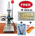Manual de lámina caliente en relieve máquina de sellado para el cuero de calor embosser troqueladora máquina de la prensa del alfabeto digital de mano
