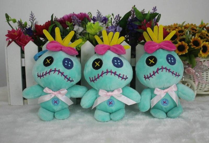 Lilo i Stich Scrump zabawki pluszowe lalki Anime Cartoon niebieski stitch miękkie wypchane zwierzęta brelok futerał na klucze wisiorki 12 cm 10 sztuk/partia w Filmy i telewizja od Zabawki i hobby na AliExpress - 11.11_Double 11Singles' Day 1