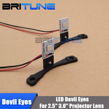 LED Devil Eyes Demon Eyes LED Module For 2.5 3.0 Projector Lens Headlight Cars DIY Styling W/ Self-protect Red/Blue/White/Yellow