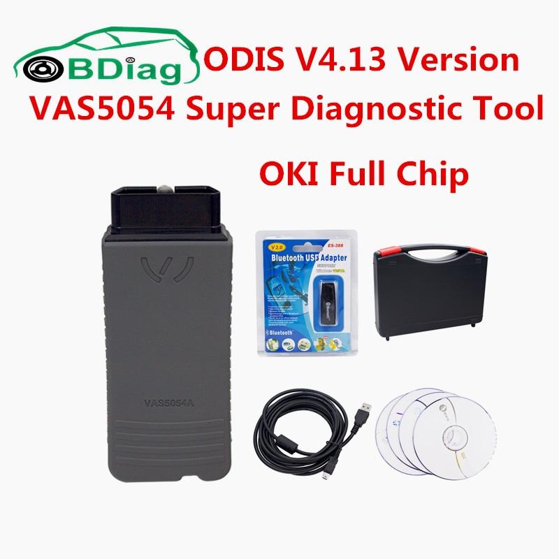 Prix pour Date ODIS V4.13 Super Outil De Diagnostic VAS5054 Vas5054a Bluetooth/USB VAS 5054 Soutien Protocole UDS OKI Plein Puce VAS 5054a
