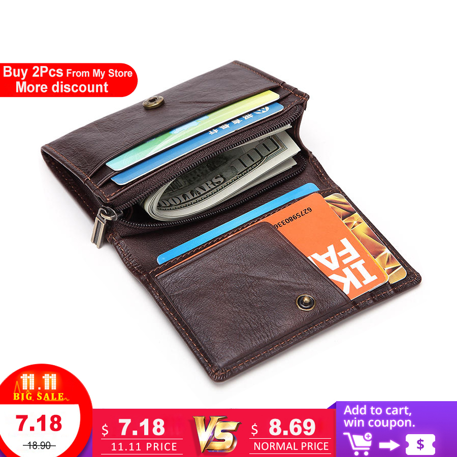 LAOSHIZI LUOSEN Genuine Leather Credit Card Holder Men Card Wallet Small Coin Purse Cardholder Male porte carte bancaire genuine leather men wallet cash clip small male purse nfc blocking card holder anti scan credit card rfid protection porte carte