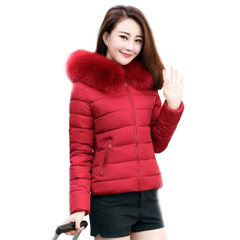 Winter Fashion Padded Women Jackets Cotton Manteau Outwear Casacos Slim Plus Size Parkas Hooded With Fake Fur Collar Coats S272 l 4xl plus size winter coat women fur hooded long jacket women winter outwear coats slim cotton padded jackets parkas mujer 2017