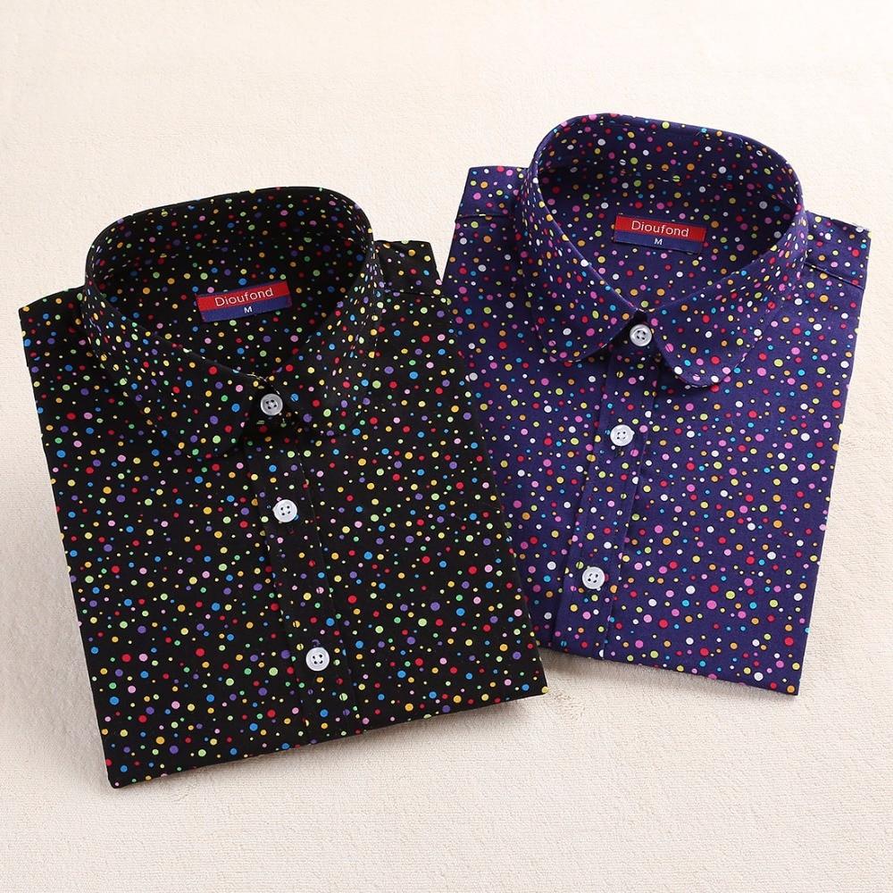 Neue Marke Red Polka Dot Shirt Dots Damen Hemden Bohemia Langarm - Damenbekleidung - Foto 3