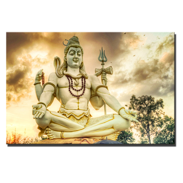 US $3 97 40% OFF|Lord Shiva Posters And Prints Large Size Classical Hindu  Gods Hinduism Religion Cuadros Pictures For Living Room Wall Art Decor-in