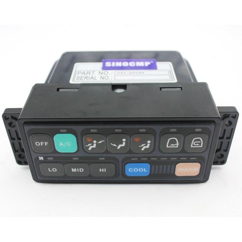 Excavator air conditioner controller 543 00049 for Daewoo Doosan DH225 5 DH225 V aircon control panel