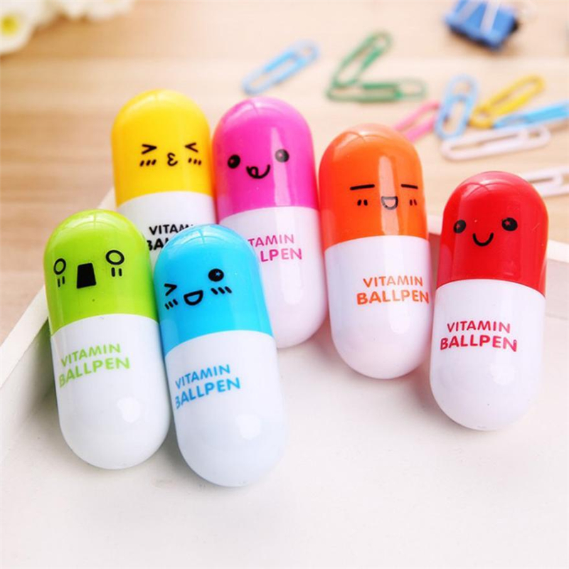 New Creative  Lovely Creative Pill Ballpoint Cute Pen Cute Learning Stationery Student Prize Wear-resistant hot Easy UseC0228 #016