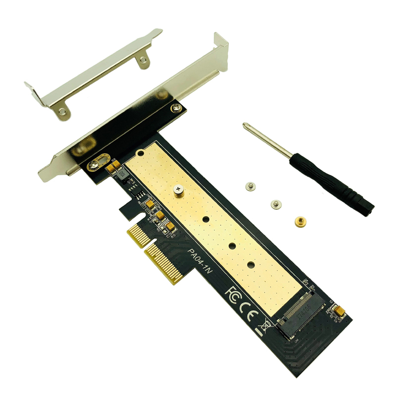 <font><b>M.2</b></font> NVME PCIE <font><b>PCI</b></font> Express 3.0 <font><b>X4</b></font> Raiser PCIE to M2 Adapter Converter Card M Key Connector Support 2230 2242 2260 2280 M2 SSD NEW image