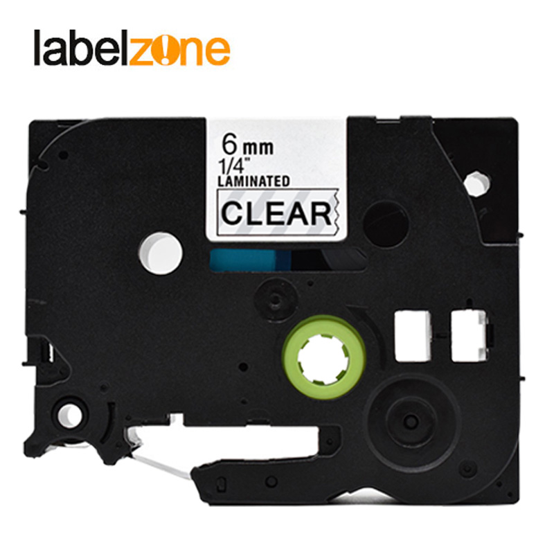 6mm Black On Clear Tze111 Compatible Brother P-touch Printers Tze-111 Tz111 Tz-111 Tz Tze 111 Label Tape Ribbon For Ptouch 6mm