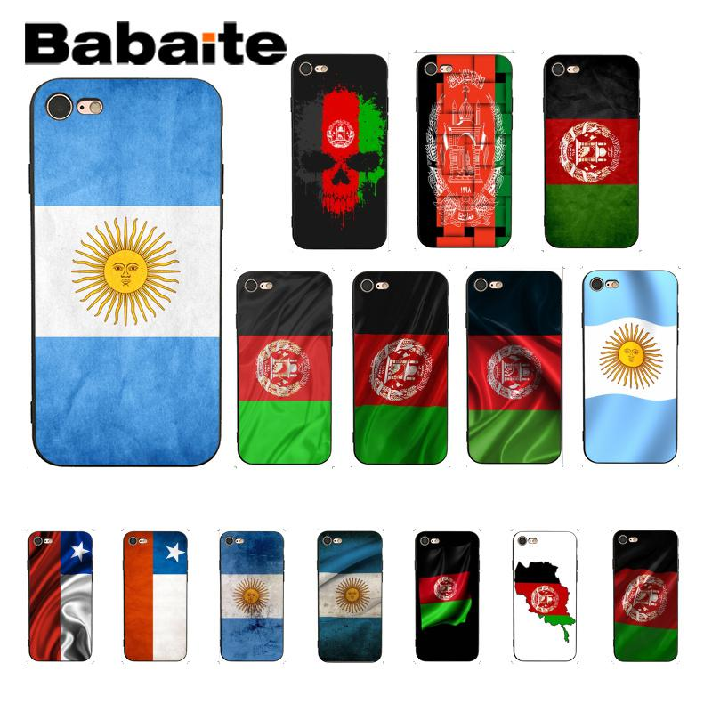 Babaite Afghan <font><b>Afghanistan</b></font> AF flag Banner Black Soft Shell Phone Cover for iPhone 8 7 6 6S Plus X XS MAX 5 5S SE XR 10 Cover image