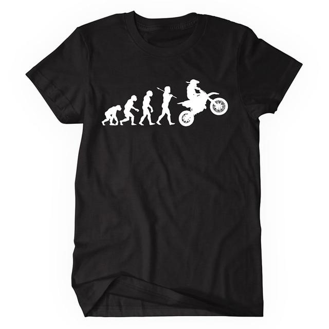 6762e2101 Evolution Motocross T Shirts Men s Funny Dirtbike Clothing Cotton T-shirt  Hipster Tops Tee Shirt Homme Camisetas