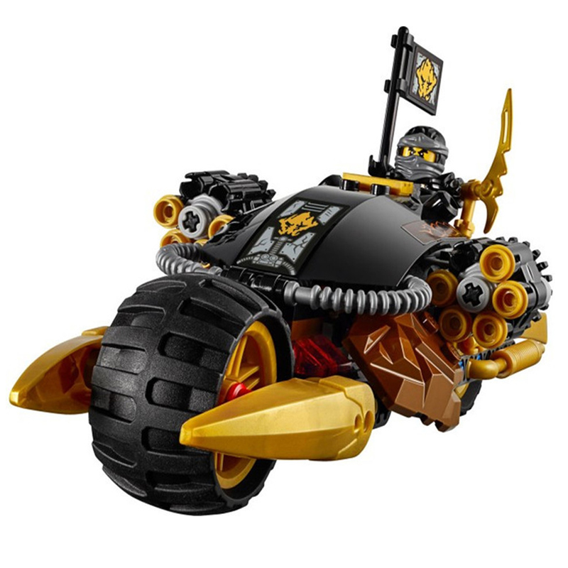 10394 Ninjagoed Bricks Ninjago Blaster Bike Car Building Blocks Kit Action Figures Model 70733 Compatible with Legoe Ninja