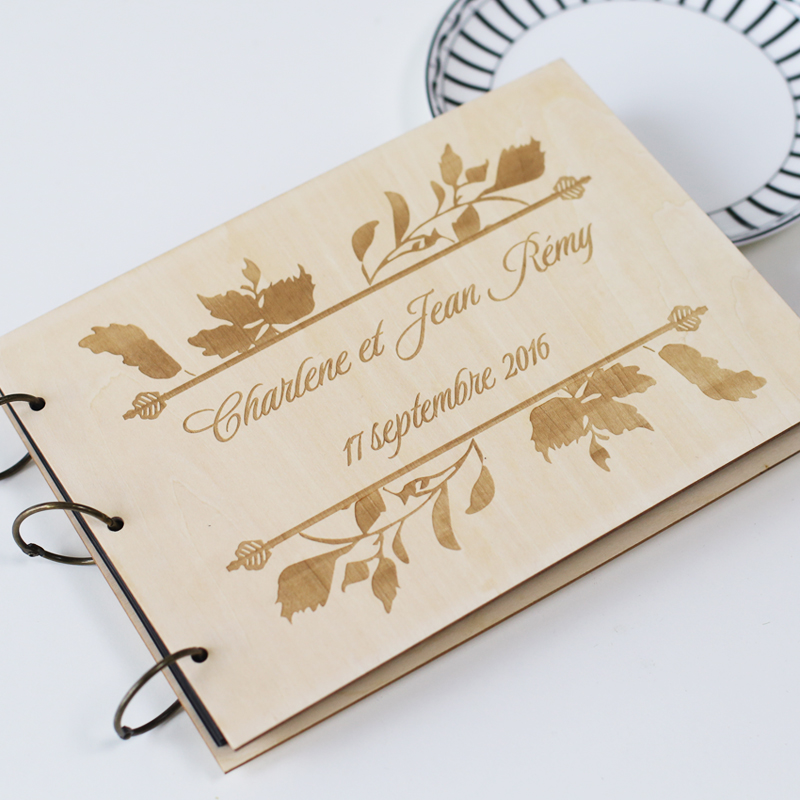 Personalized Wedding Guest Book Rustic Gift Album Engraved Leaf Guestbook In Party Favors From Home Garden On Aliexpress