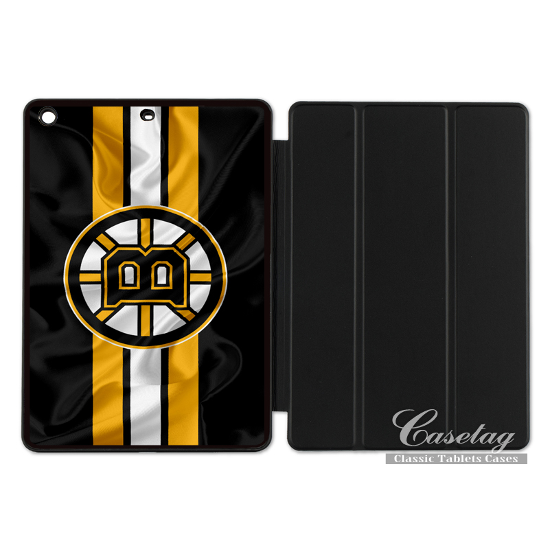 Boston Bruins Ice Hockey Flag Cover Case For Apple iPad 2 3 4 Mini Air 1 Pro 9.7 10.5 12.9 New 2017 a1822
