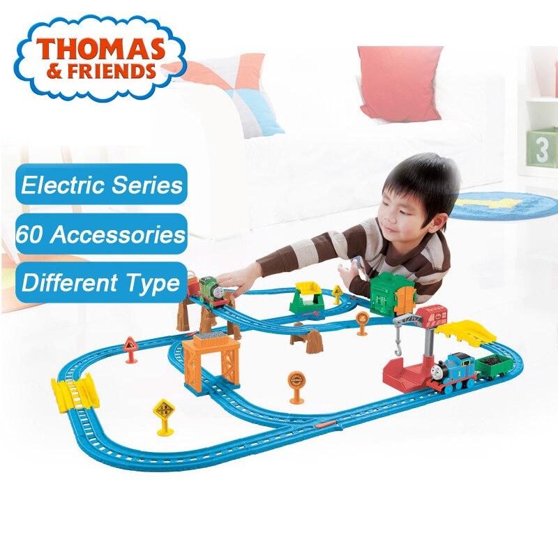 Thomas & Friends 1:43 Mini voiture de Train en métal moulé sous pression modèle jouet de construction de voie de chemin de fer jouet avec électrique pour enfants cadeau