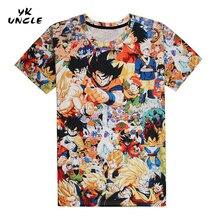 Anime Dragon Ball Z Super Saiyan T shirts Harajuku Tee Shirts New Casual Tees Goku 3D Men/Women Short Sleeve T-shirt,YK UNCLE