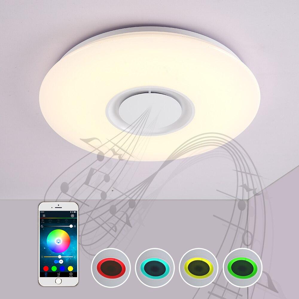 Lightme 24W-LY convertisseur de lumière de musique plafonnier Bluetooth avec lecteur de musique réglage de couleur lumière de plafond de musique vocale intelligente