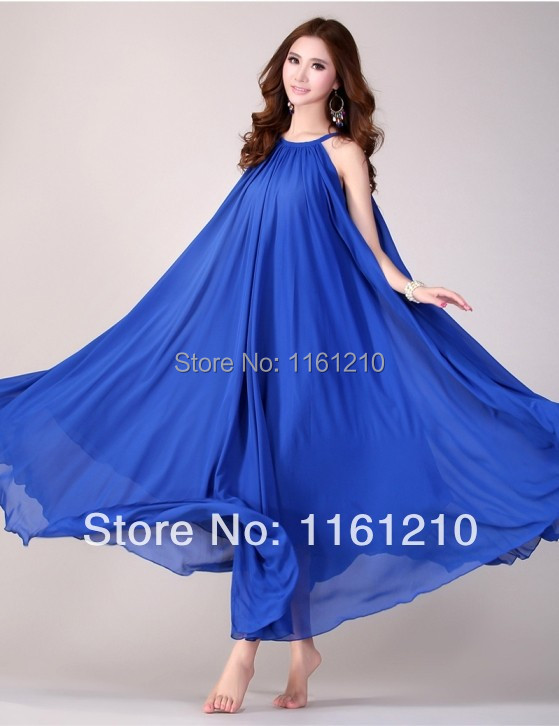royal blue summer holiday beach maxi dress beach wedding party guest sundress plus size boho maternity