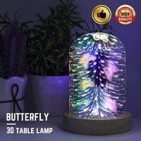 Jelly Fish butterfly 3D Table Lamp Usb Bedside Led Night Light with light Base Novelty Children Sleep Night Light 3D desk Lamp