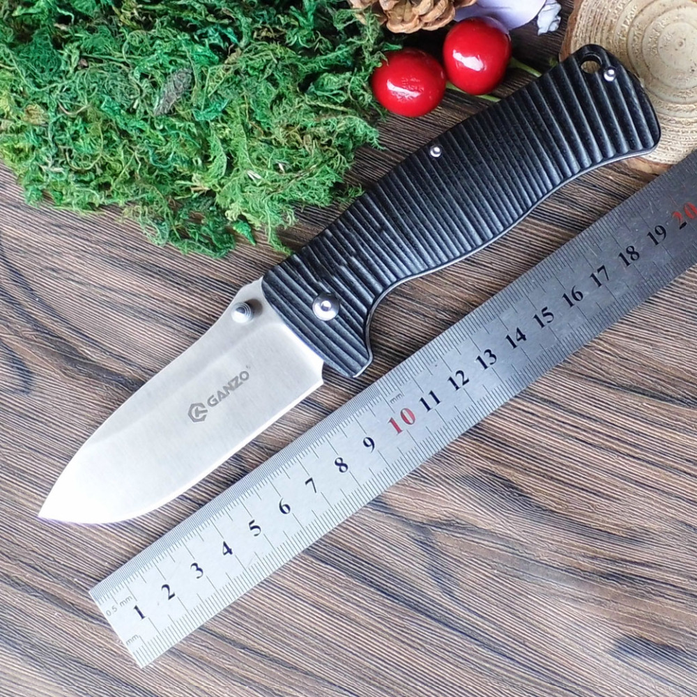 Ganzo G720 Firebird F720  58-60HRC G10 Handle Folding Knife Outdoor Survival Hunting Camping Tool Pocket Knife Tactical EDC Tool outlife new style professional military tactical multifunction shovel outdoor camping survival folding spade tool equipment