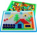 Коробка упакованы 296 шт. Зерна Гриб Ногтей Бисер Интеллектуальные 3D Пазлы для Детей Пластиковые Детские Образовательные Головоломки игрушки
