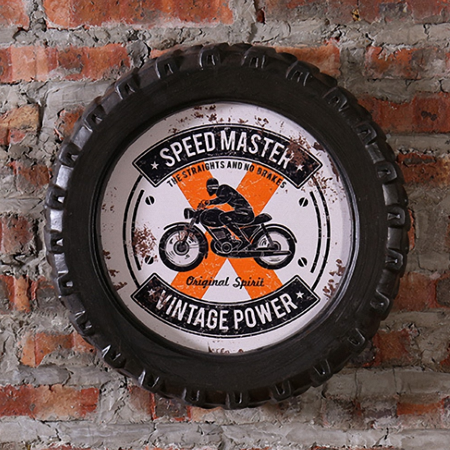 SPEED MASTER VINTAGE POWER Car Tires MDF Foaming Sign Vintage Wood Painting Cafe Bar Dec ...