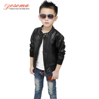 2014 Boys PU Leather Motorcycle Jacket Autumn Winter Kids Outwear Children Teenage Fashion Coat Causual Costumn