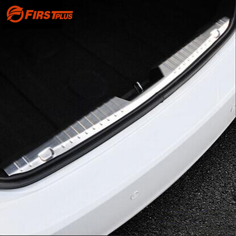 For CHEVROLET CRUZE 2009-2014 Car Trunk Rearguards Guard Trim Adhesive Stainless Steel Rear Bumper Protector Sill Plate Cover насадка jet jw 1003