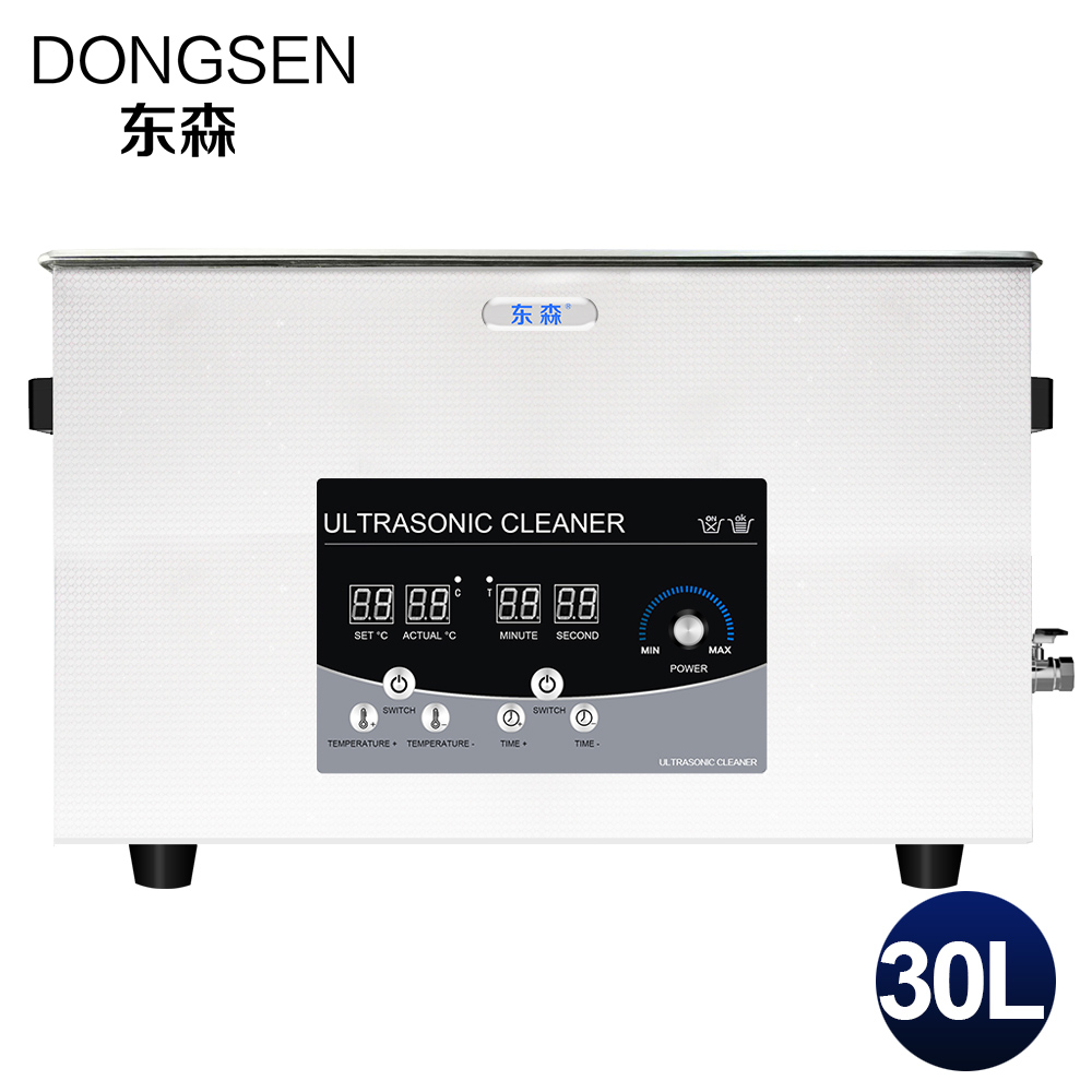 Digital Ultrasonic Transduce Cleaner 30L Power Adjustable PCB Board Motor Car Parts Hardware Glassware Heated Ultrasound Bath