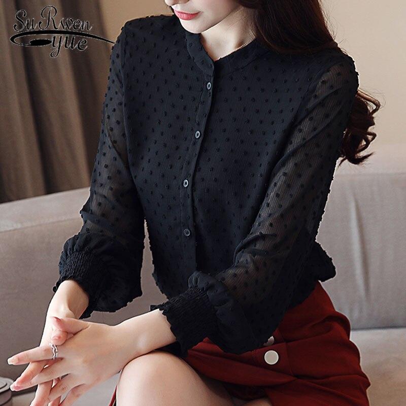 fashion woman   blouses   2019 spring long sleeve women   shirts   white   blouse   tops office work wear women   blouse     shirt   blusas 0974 60