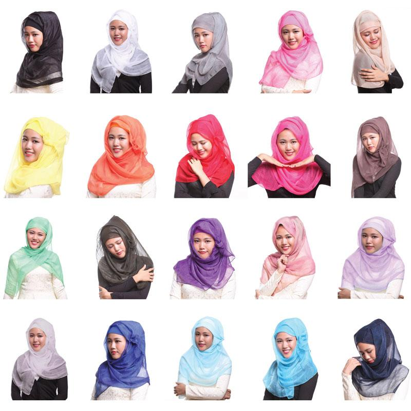 12 PCS Ramadan Muslim Women's Hijab Long Scarf Islamic Headcover Hat Wrap Amira Shawls Headscarf Headwrap Fashion Random Color