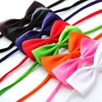 100 teil/los cat dog fliegen polyester pet hund krawatten bowties kragen pet grooming zubehör