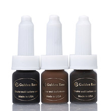 3PCS Permanent Makeup Pigment Tattoo Ink Cosmetic Inks For Eyebrow Lips 6 Colors To Choose 5ml/Bottle