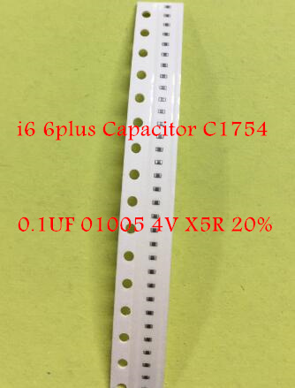 10pcs for iphone 6 6plus capacitor C1754 0.1UF <font><b>01005</b></font> 4V X5R 20% image