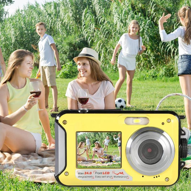 Pro Waterproof Game 24MP Dustproof Waterproof USB Double Screen Underwater Kids Mini Camera Outdoor Photography Full HD Selfie