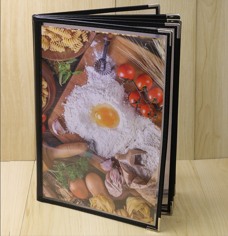 6, 8, 10, 12, 14 Page 12, 16, 20, 24, 28 View Transparent Restaurant Menu Covers, Fits Stand A4 Size Paper