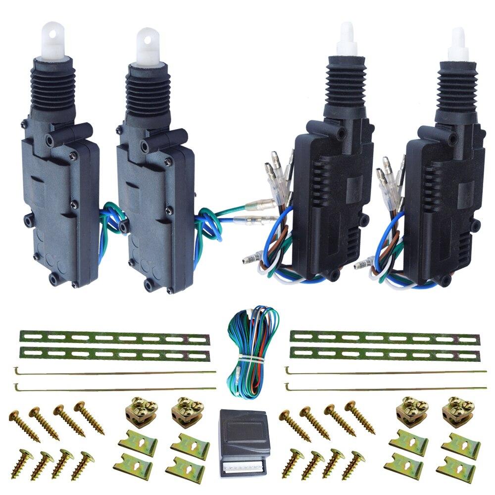 top quality heavy duty 12V car cenral lock system 2pcs maters 2pcs slaves actuators big pulling