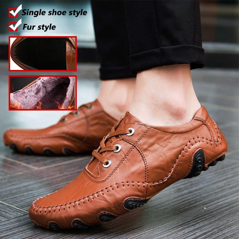 Casual Chaussures Hommes En Cuir Véritable Appartements à Lacets Mocassins Mocassin Oxford Mode Hommes Chaussures D'été Mâle Adulte De Luxe Marque grande Taille
