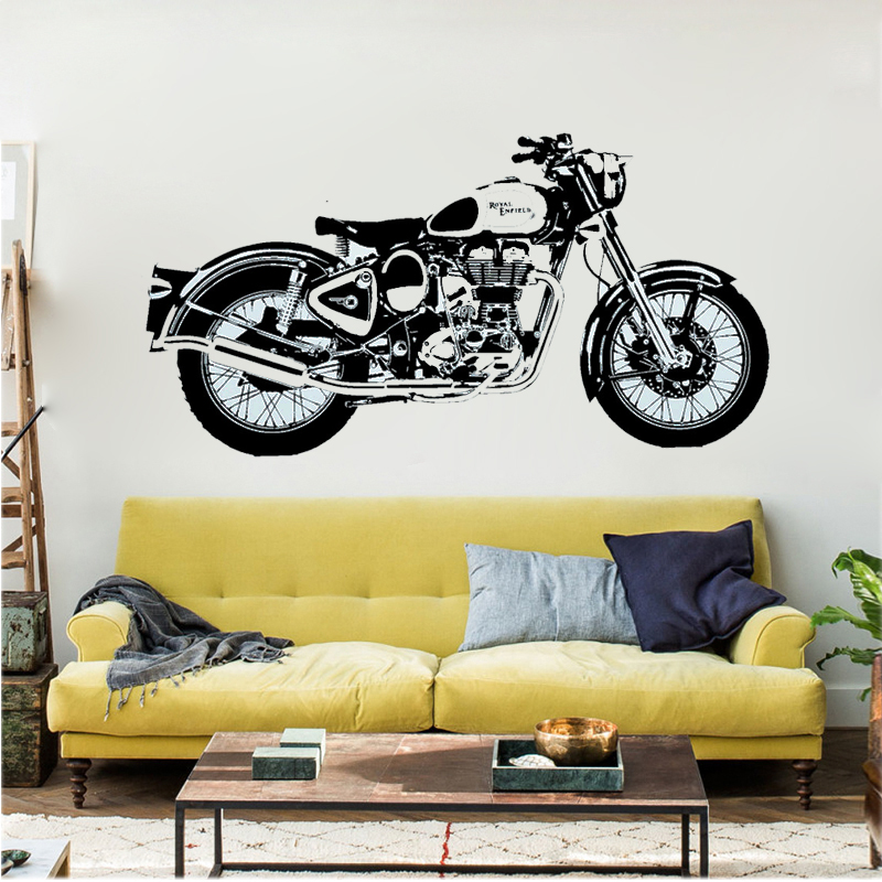 D3681 Motorbike Wall Art Sticker Classic English Motorcycle Decal Car Wallpaper Mural Wall Stickers for Home Decor-in Wall Stickers from Home u0026 Garden on ... & D3681 Motorbike Wall Art Sticker Classic English Motorcycle Decal ...