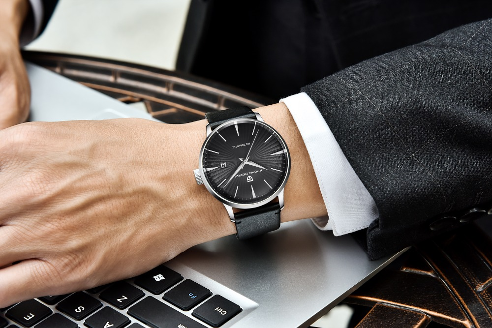 Pagani design automático relógio masculino azul relógios