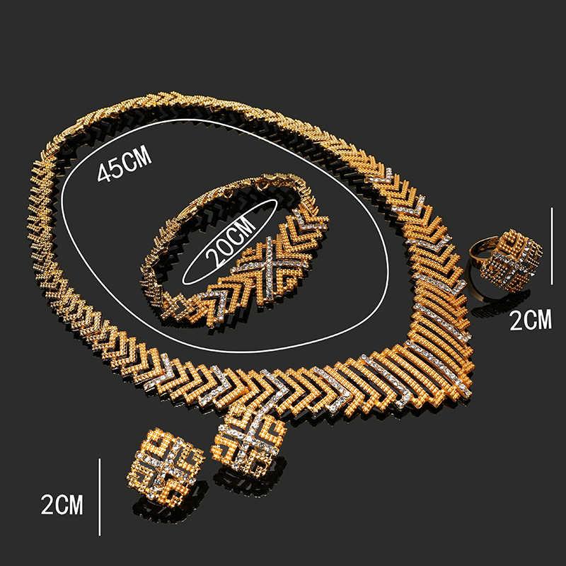 Fani nigerian hochzeit frau zubehör schmuck set Großhandel mode afrikanische perlen schmuck-set dubai gold Braut schmuck set