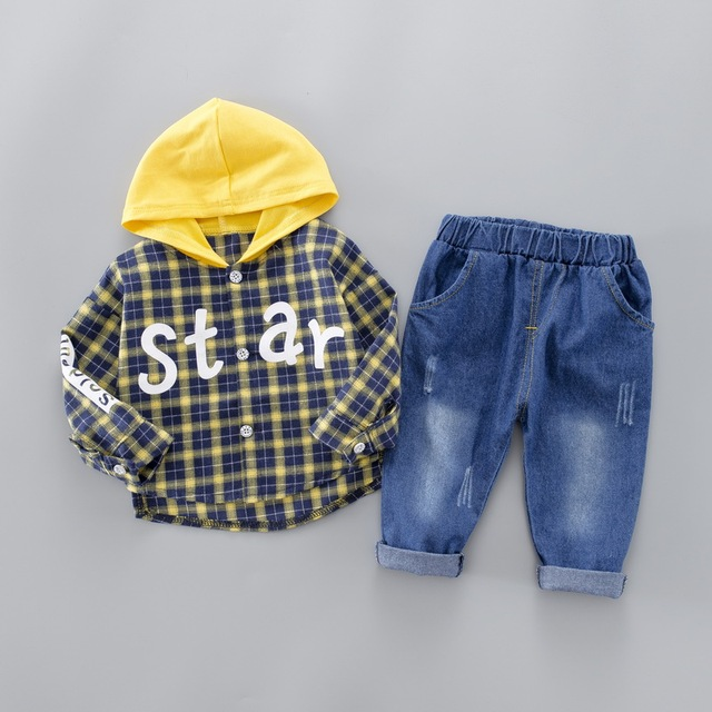 "2-Piece Letter Print ""Star"" Striped Top with Pants Set for Baby / Toddler Boy"