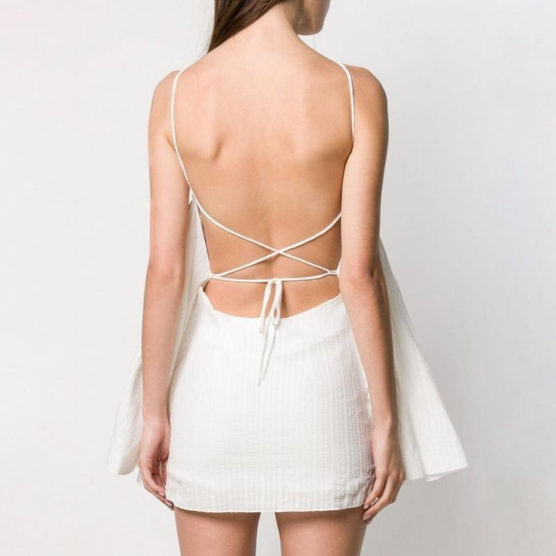 Fashion Dress Female Backless