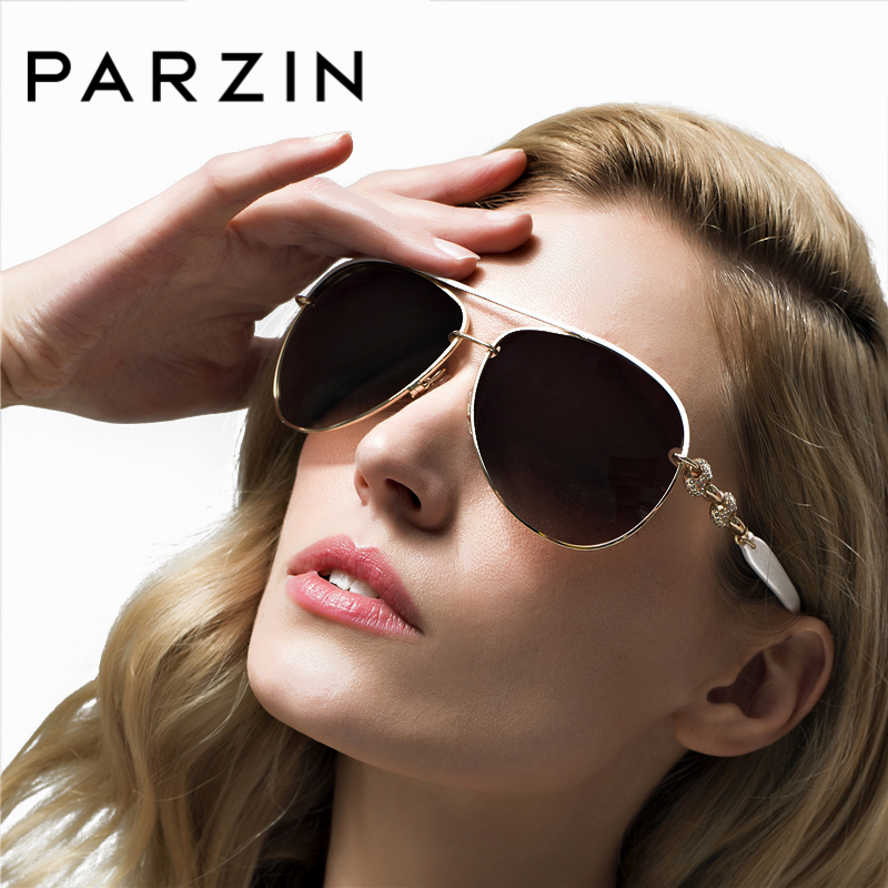 PARZIN Luksuzni diamant polarizirana sončna očala elegantna blagovna znamka oblikovalska sončna očala za voznike ženske pilotska očala 9613