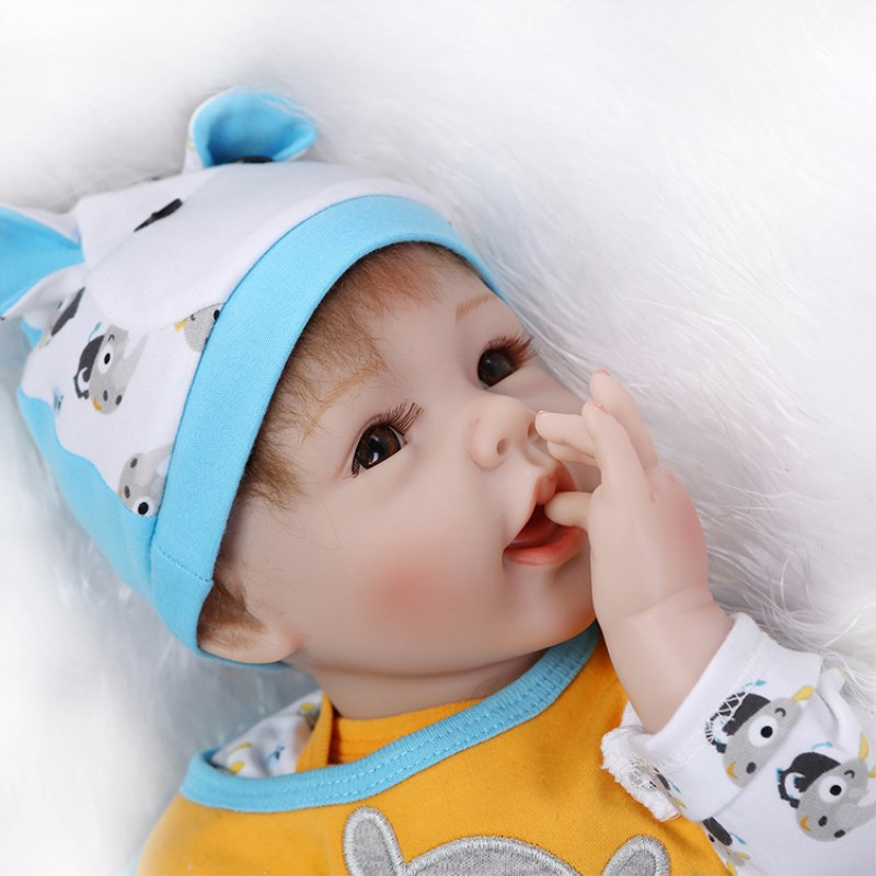 npk real sleeping baby reborn dolls 16 40cm soft silicone reborn babies for children gift bebe brinquedos reborn bonecas NPK 55CM Babies Real Silicone Reborn Baby Dolls Little bebe Boys reborn Toys for Kid Gift alive Doll Brinquedos Bonecas