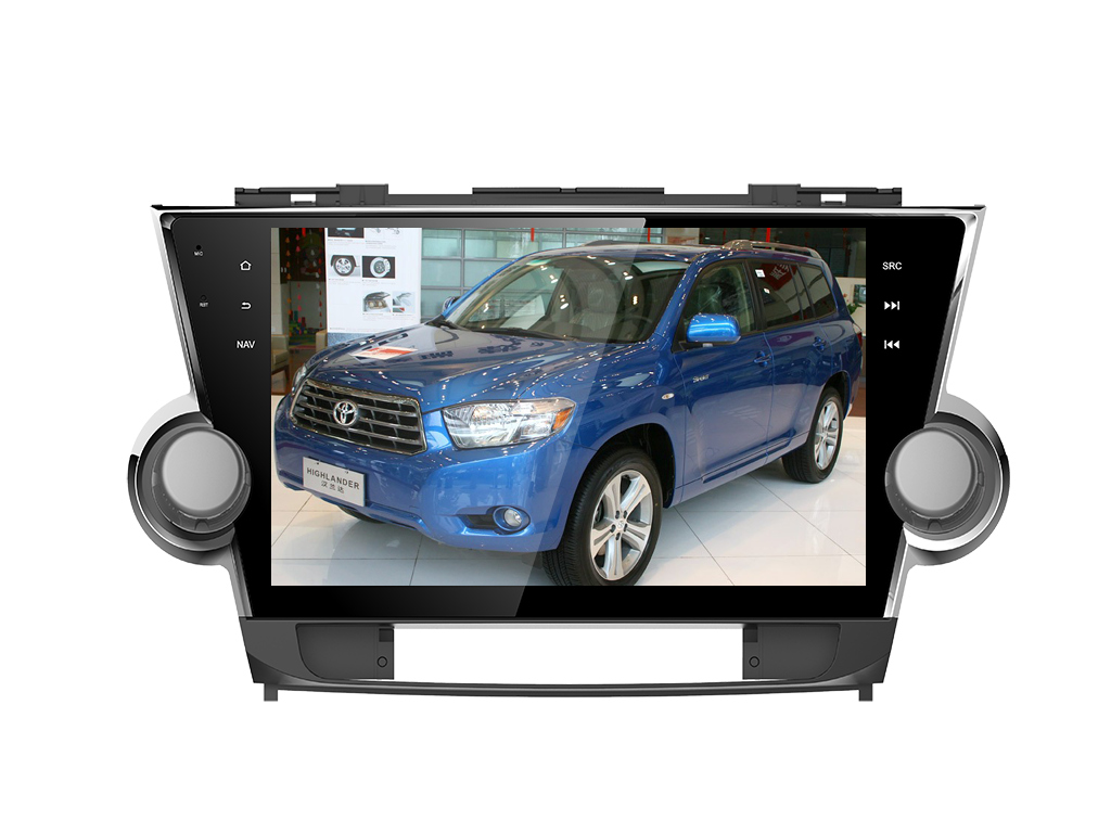 10.1 Quad core IPS screen Android 7.1 2+32G Car stereo multimedia video player for Toyota Highlander Kluger 2008-2013