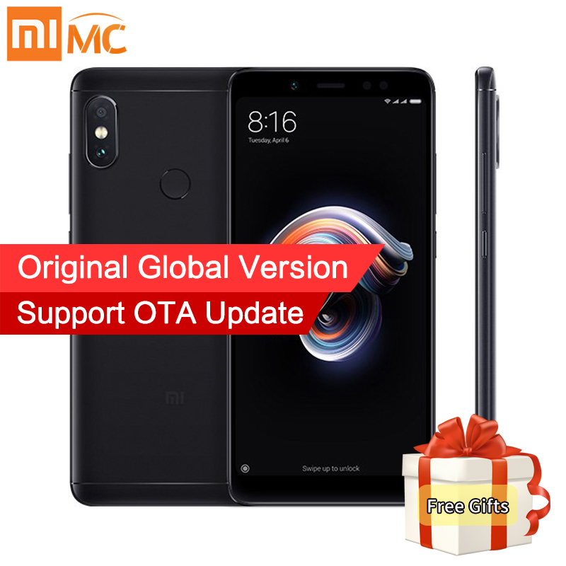 Mondial Version Xiaomi Redmi Note 5 3 gb 32 gb Android 8.1 Mobile Téléphone Snapdragon 636 Octa base 5.99 18:9 Plein Écran Double Caméra