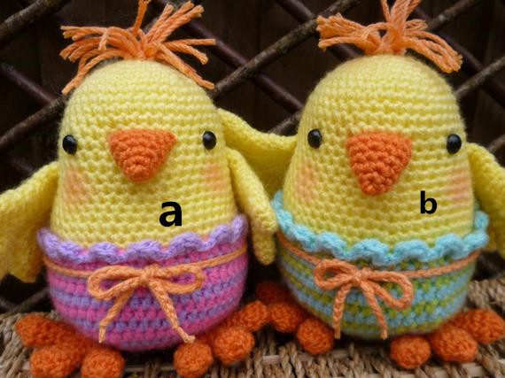 Crochet Toy Chicken  Number B05135