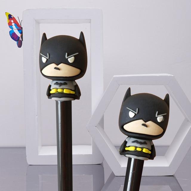 2pcs Lot Novelty Superhero Batman Gel Pen Creative Stationery Office Supplies School Chancery For Students