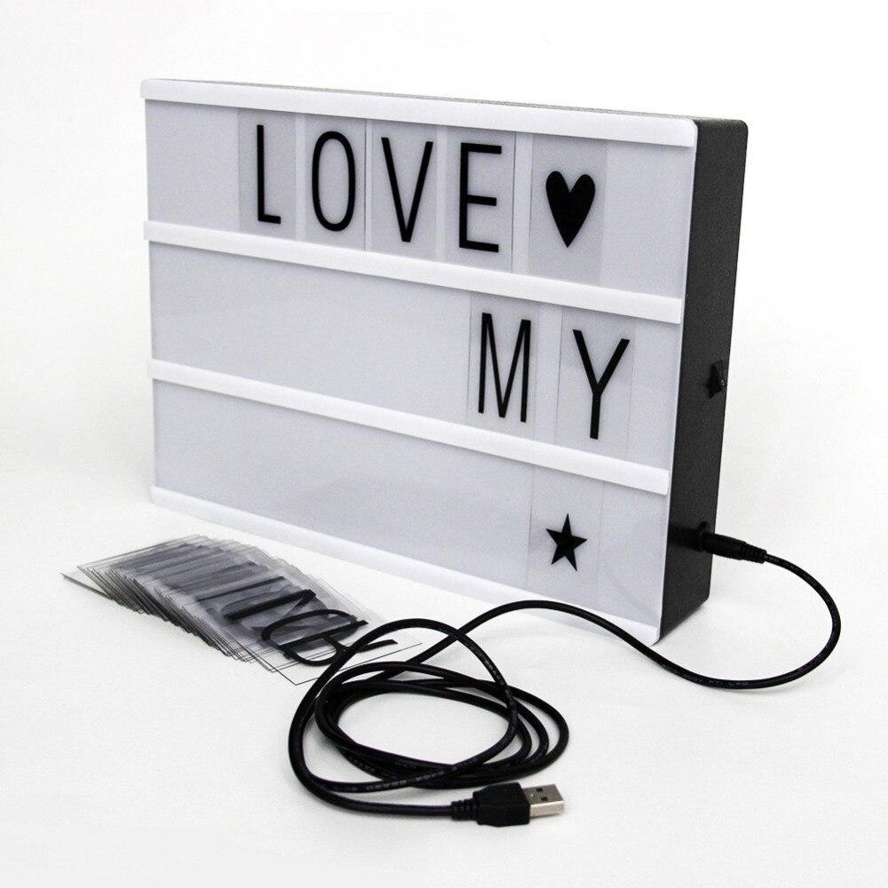 DIY LED Licht Box A4 Größe Kino Licht Box Freies 90 buchstaben ...