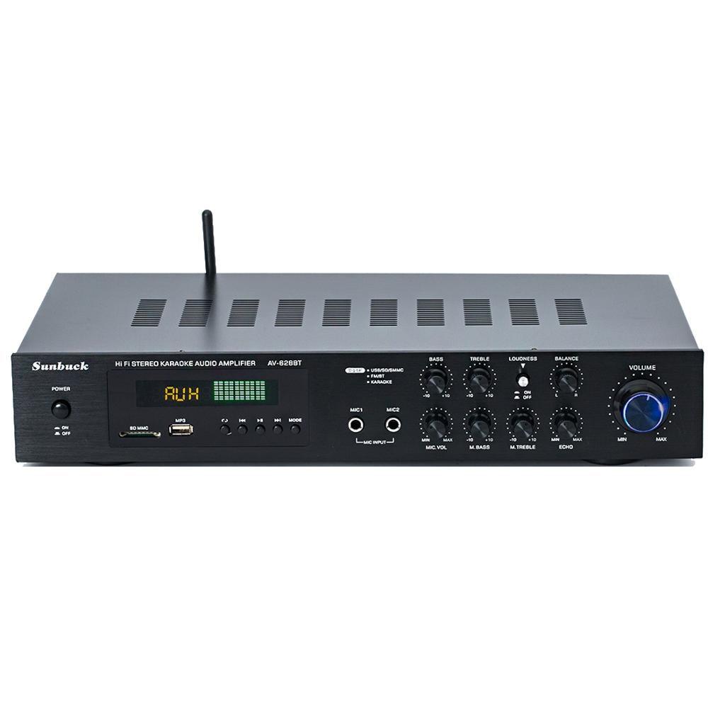 220V 5.1 Channel 400W High Power SD USB FM Bluetooth Remote Control Power Amplifier Home AV Amplifier
